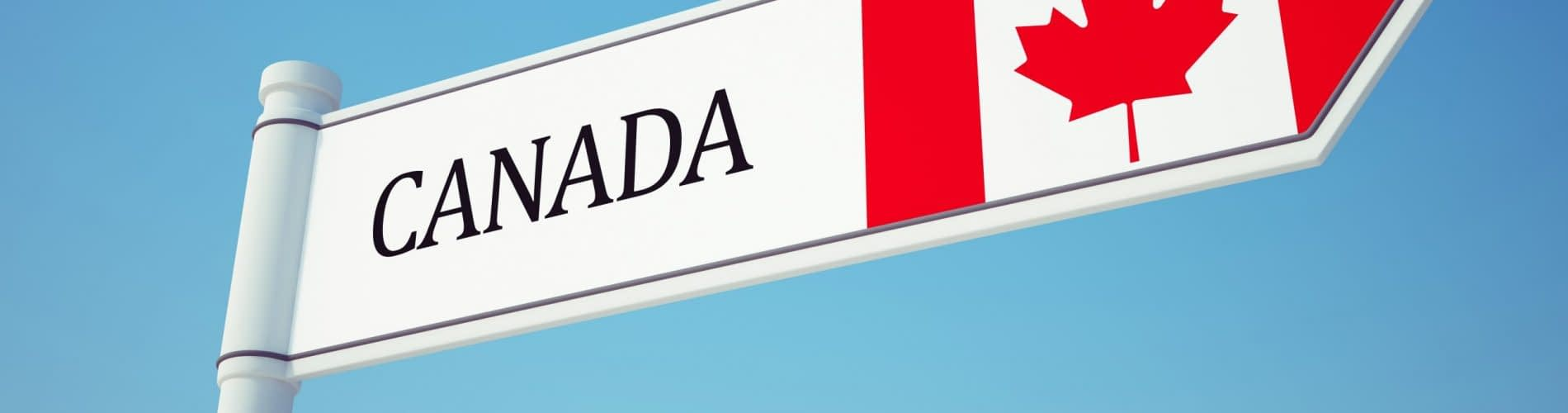 Canada Flag Sign isolated on sky